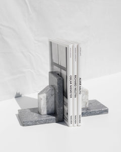marble bookend set