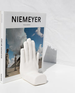 ceramic hand bookends