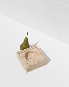 luxurious travertine catchall