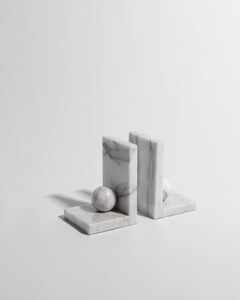 architectural marble bookends