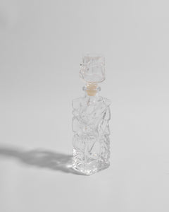 sculptural glass bottle