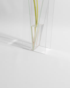 architectural glass vase