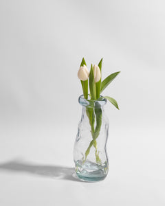 sculptural glass vase