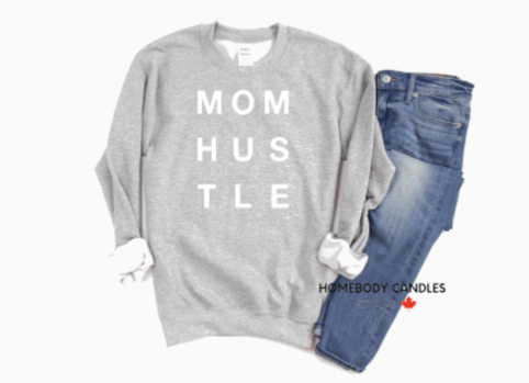 MOM HUSTLE CREWNECK
