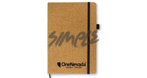 A5 cork notebook which can be personalized for you or as a gift