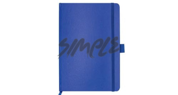 A5 Hard Cover Notebook With Pen Holder And Bookmark Ribbon Blue Book
