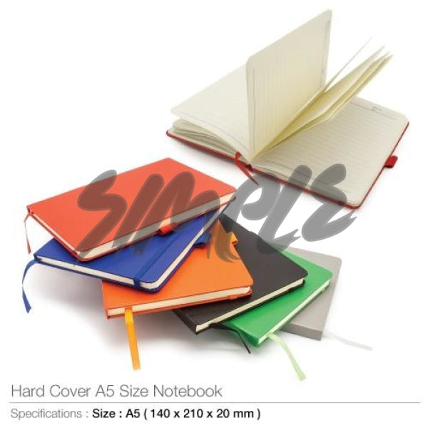 A5 Hard Cover Notebook With Pen Holder And Bookmark Ribbon Book