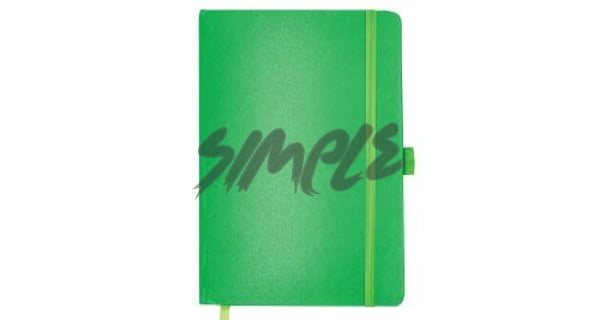 A5 Hard Cover Notebook With Pen Holder And Bookmark Ribbon Green Book
