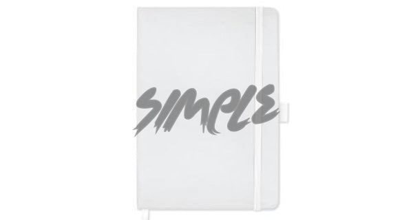 A5 Hard Cover Notebook With Pen Holder And Bookmark Ribbon White Book