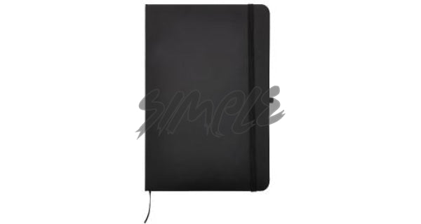 A5 With Pocket Calendar And Pen Holder Black Book