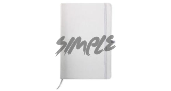 A5 With Pocket Calendar And Pen Holder White Book