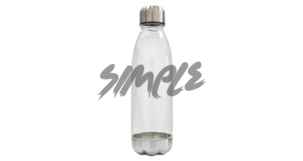 Bottle With Steel Cap And Base Clear