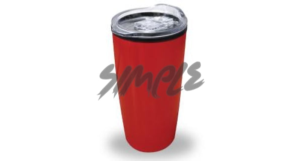 Double Wall Mug With Lid Red Travel