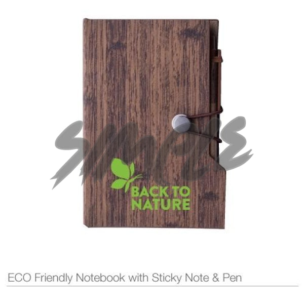Eco-Friendly Notebook With Sticky Notes & Pen Book