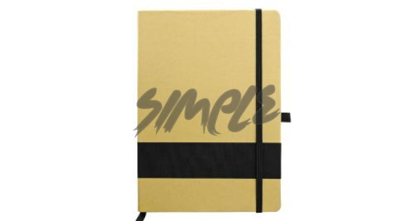 Eco-Friendly Notebook With Stripe & Pen Holder Black Book