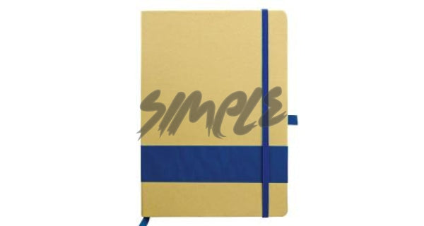 Eco-Friendly Notebook With Stripe & Pen Holder Blue Book
