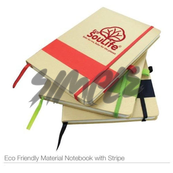 Eco-Friendly Notebook With Stripe & Pen Holder Book