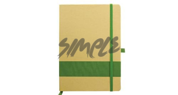 Eco-Friendly Notebook With Stripe & Pen Holder Green Book