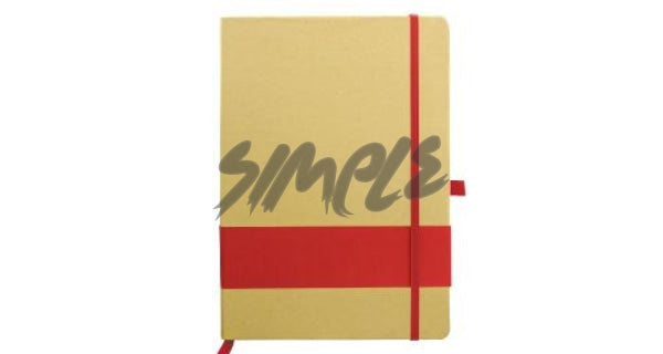 Eco-Friendly Notebook With Stripe & Pen Holder Red Book