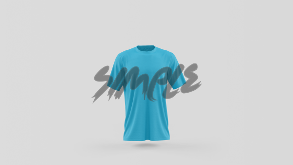 Half Sleeve T-Shirt - Men Small / Turquoise T-Shirts