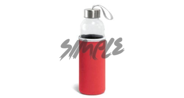 Plastic Bottle With Sleeve Red Bottle