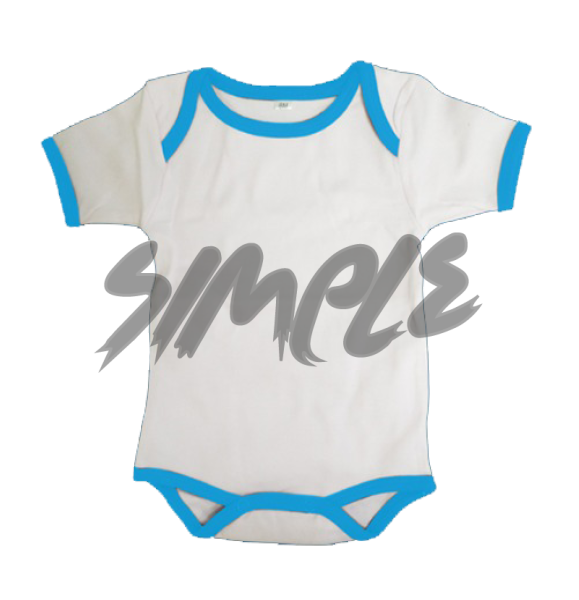 Rompers 0-3 / White With Blue Stripe