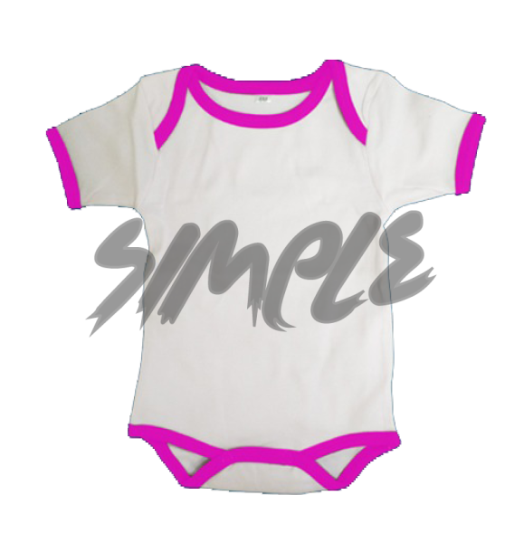 Rompers 0-3 / White With Pink Stripe