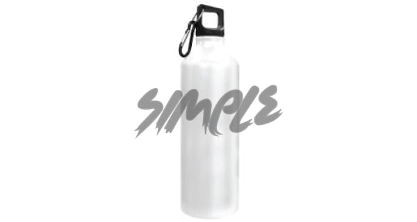 Stainless Steel Sports Bottle White