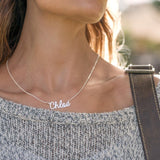 Engraved Name Necklaces In Sterling Silver