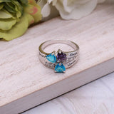 Personalized Three Birthstone Mother Ring