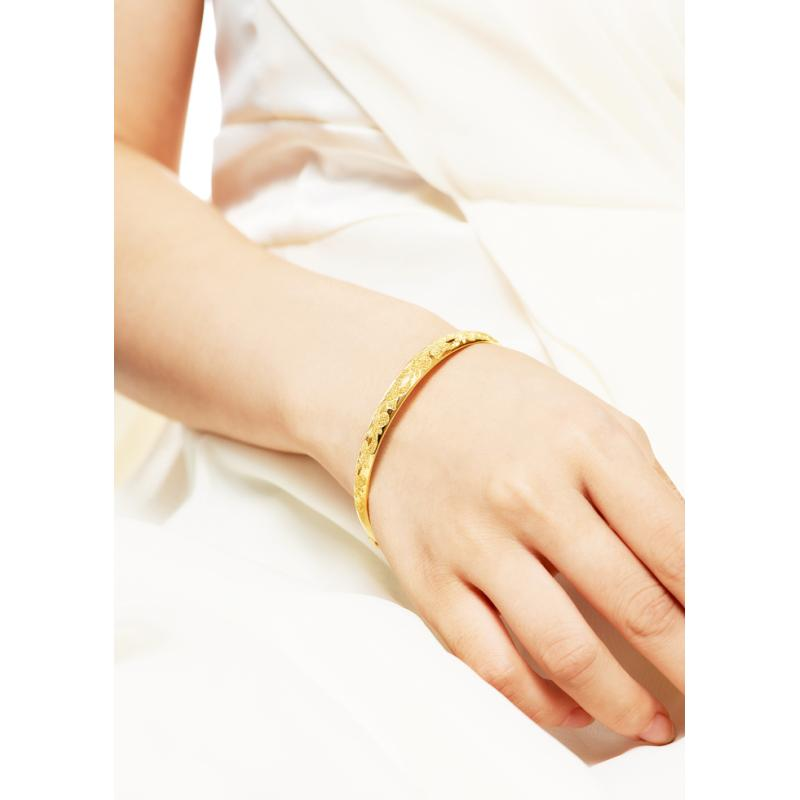 Solid 24K Gold Bangle Adjustable