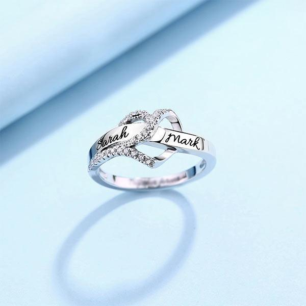 Customized Heart Ring Silver