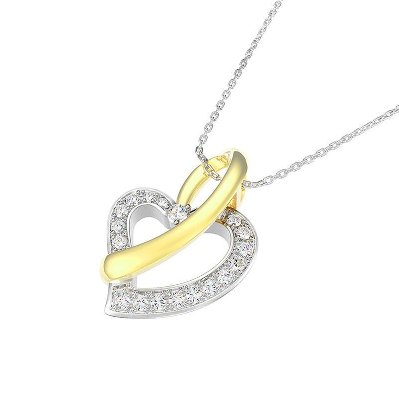 Love Heart Shape Pendant Sterling Silver Necklace