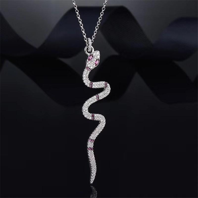 Trend Snake Pendant Sterling Silver Necklace