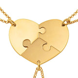3 Pieces Initial Puzzle Necklace