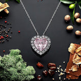 Heart Pendant Sterling Silver Necklace