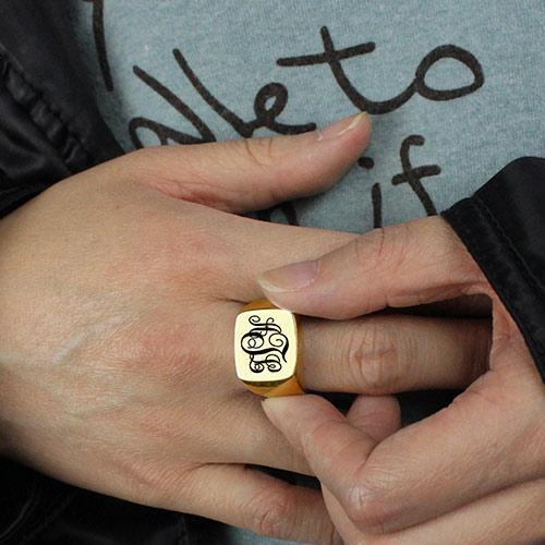 Signet Ring with Monogram