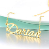 Personalized custom jewelry name necklace gift for women 18k Gold Plated