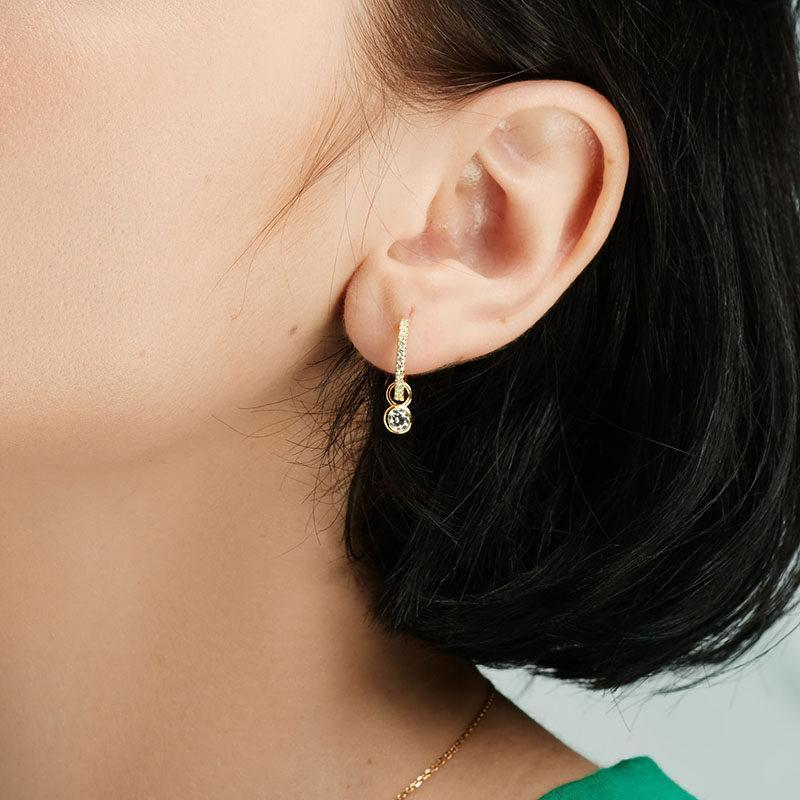 White Asymmetric Fawn Earrings