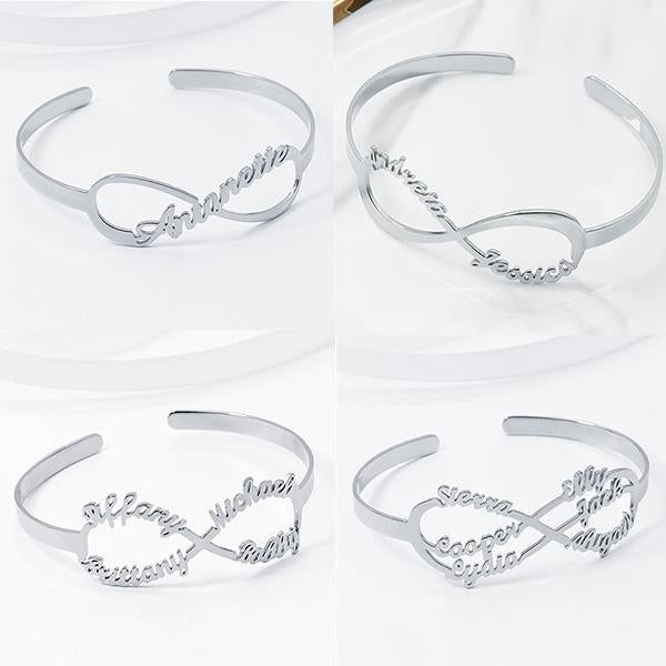 Personalized Infinity Up to 6 Names Bracelet