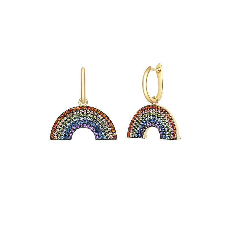 Rainbow Multicolor Drop Earrings