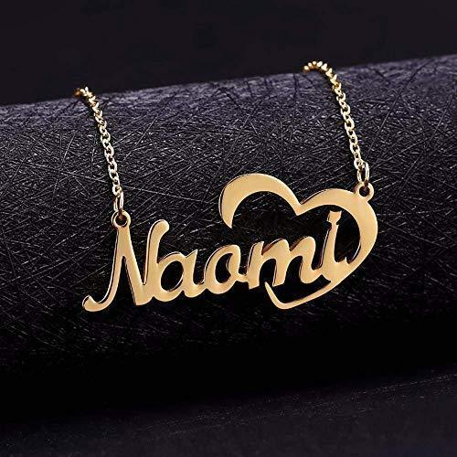 Nick Name Personalized Necklace With Heart Shape Sterling Silver