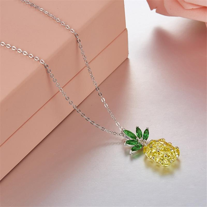 Sterling Silver Pineapple Pendant Necklace