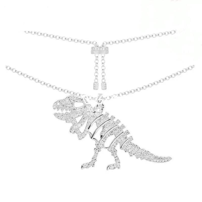 Dinosaur Animals Element Pendant Sterling Silver Necklace