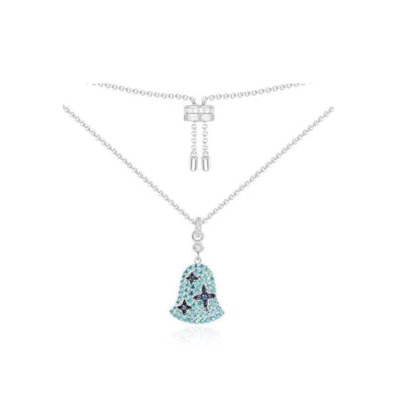 Dainty Sterling Silver Wind Bell Pendant Necklace