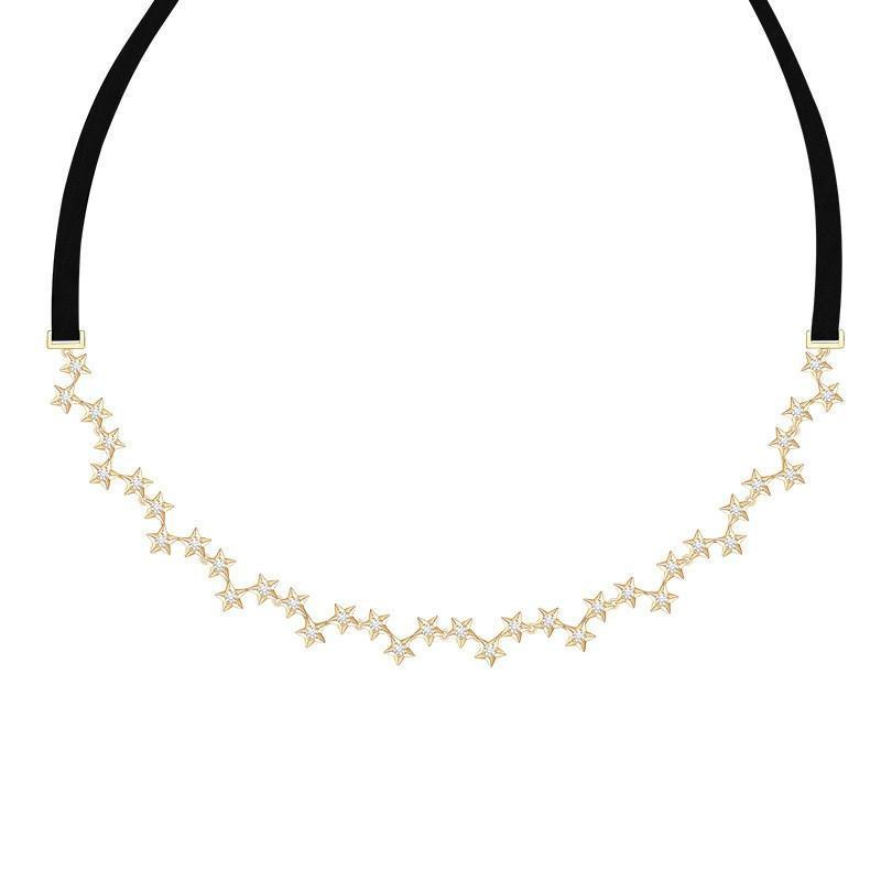 Vintage Charm Star Choker Necklace for Women