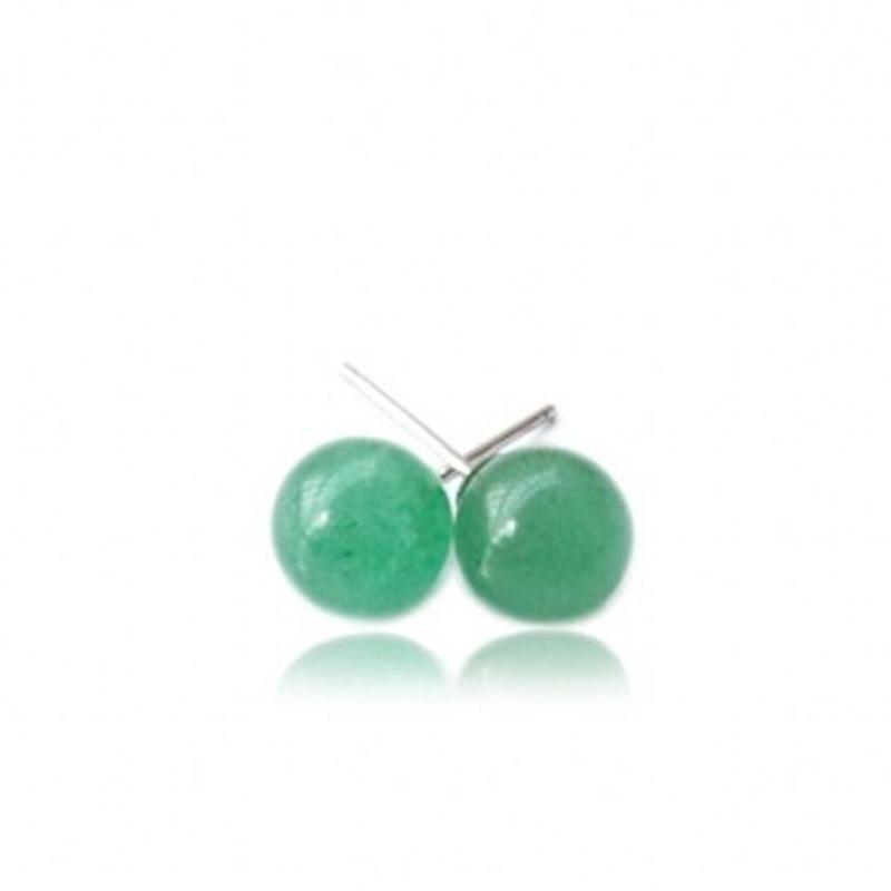 Natural Stone 925 Sterling Silver Ear Nails Stud Earrings