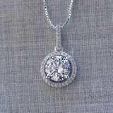 Round Pendant Sterling Silver Necklace
