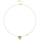 Sterling Silver Lemon Clavicle Necklace