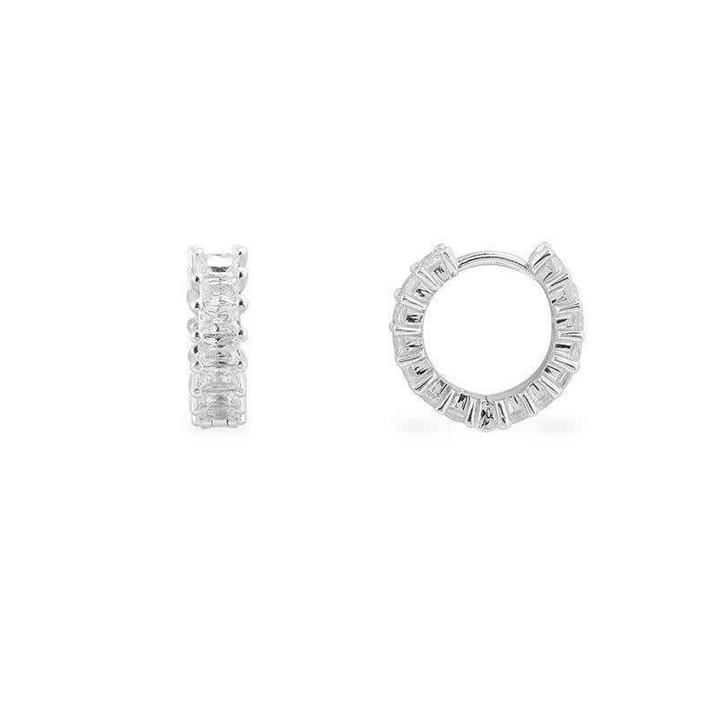 Sterling Silver Huggie Hoop Earrings Small Cuff Earrings for Women Girls